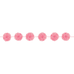 Light Pink Fluffy Paper Garlands - 12 PKG/2