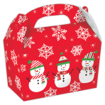 Snowman Small Gable Cardboard Boxes - 12 PKG/5