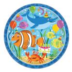Ocean Buddies Paper Plates 23cm - 12 PKG/8