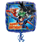 Justice League Happy Birthday Standard Foil Balloon S60 - 5PC