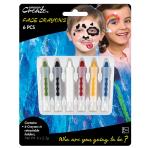 Face Paint Crayons Primary Colours 2.3g Ea - 6 PKG/6