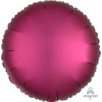Pomegranate Circle Satin Luxe Standard HX Foil Balloons S15 - 5 PC