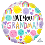 Love You Grandma Standard HX Foil Balloons S40 - 5 PC