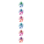 The Party Continues 21th Birthday Cascade Columns 2.1m - 6 PKG