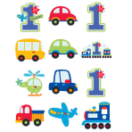 All Aboard Birthday Cutouts Pack - 12 PKG/12