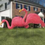 Hawaiian Flamingo Garden Stakes - 3 PKG/2
