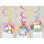 Unicorn Swirl Decoration - 10 PKG/6