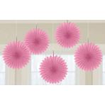 New Pink Card Fans 15cm - 6 PKG/5