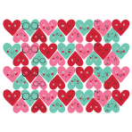 Heart Faces Mini Glitter Cut-Outs 6.35cm - 9 PKG/50