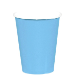 Powder Blue Paper Cups 266ml    - 12 PKG/8