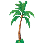 Hawaiian Palm Tree Jointed Cutout - 1.8m - 12 PKG