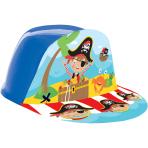 Little Pirate Plastic Hats - 6 PC