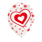 """Hearts Red Latex Balloons 11""""/27.5cm - 10PKG/6"""