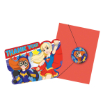 DC Super Hero Girls Thank You Cards & Envelopes - 6 PKG/8