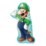 "Super Mario Luigi SuperShape Foil Balloons 20""/50cm w x 38""/96cm h P38 - 5 PC"