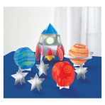 Blast Off Birthday Table Decorating Kits - 6 PKG/8