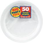 Frosty White Paper Plates 23cm - 6 PKG/50