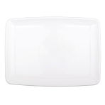 Small Serving White Plastic Trays 20.3cm x 27.9 - 12 PC