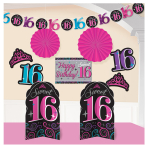 Sweet 16 Room Decorating Kits - 12 PKG