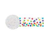 Rainbow Dots Crepe Streamers 4.4cm x 24m - 12 PKG