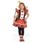 Queen of Hearts Costume - Age 8-10 Years - 1 PC