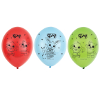 "Bing Latex Balloons 4 Sided Print 11""/27.5cm - 6 PKG/6"