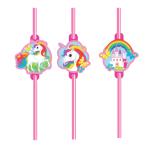 Unicorn Plastic Straws - 10 PKG/8