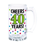 40th Glass Tankards 443ml - 4 PC