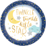 Twinkle Little Star Metallic Paper Plates 27cm - 12 PKG/8