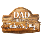 "Dad, Happy Father's Day Wood Marquee SuperShape Foil Balloons 28""/71cm x 18""/45cm P30 - 5 PC"
