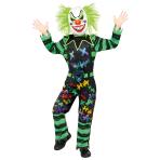 Haha Clown Costume - Age 8-10 Years - 1 PC