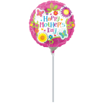 Happy Mother's Day Butterflies & Flowers Air-Filled Foil Balloons A15 - 5 PC