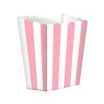 Candy Buffet Popcorn Treat Boxes Light Pink - 24 PKG/5
