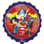 """DC Super Hero Girls SuperShape XL Foil Balloons 28""""/71cm x 28""""/71cm P38 - 5 PC"""