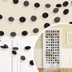 Black Glitter String Decoration 2.13m - 6 PKG/6