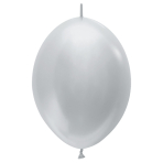 """Satin Link-O-Loon Solid Silver 481 Latex Balloons 12""""/30cm - 50 PC"""