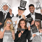 New Year Jumbo Hot Stamped Photo Props - 3 PKG/12