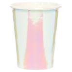 Iridescent Paper Cups 250ml - 6 PKG/8