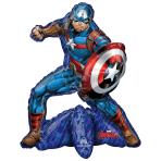 "Avengers Captain America Sitter Foil Balloons 22""/55cm w x 26""/66cm h P50 - 5 PC"