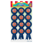 "Ribbon Award ""Winner"" Rosette - 6 PKG/12"