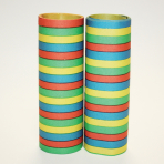 Red, Blue, Green & Yellow Serpentine Rolls - 4mm x 7mm (18 throws per roll) 24 PKG/3