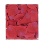 Red Fabric Rose Flower Petals Confetti - 5 cm - 6 PKG/300