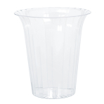 Plastic Clear Flared Large Containers 19.3cm - 12 PC