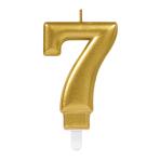 Gold Metallic Finish Candles #7 - 12 PC
