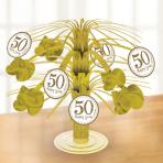 Sparkling Golden Anniversary Foil Centrepieces - 6 PC