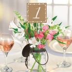 Rustic Table Number Picks - 6 PKG/12
