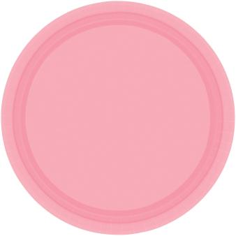 New Pink Paper Plates 18cm - 6 PKG/20