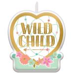 "Boho Birthday Girl ""Wild Child"" Candles 6cm x 6.6cm - 12 PC"