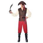 High Seas Pirate Costume - Size L - 1 PC
