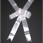 White Wedding Car Ribbon - 6m approx - 6 PKG
